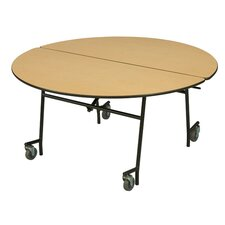 "29"" x 60"" Round Mobile Table Unit"