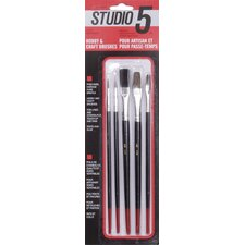 Studio 5 Artist and Hobby Brushes (Set of 5)