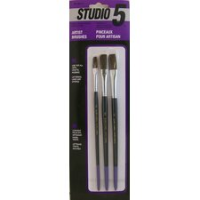 Studio 5 Artist and Hobby Brushes (Pack of 3)