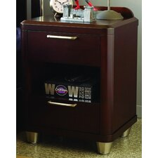 Aura 2 Drawer Nightstand