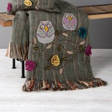 Owls Recycled Wool / Acrylic Throw
