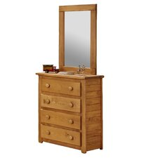 Jumbo 4 Drawer Dresser with Mirror