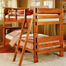 Twin over Twin Standard Bunk Bed with Bookcase