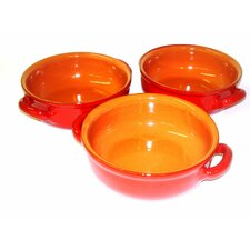 Italian Terracotta 3 Piece Mini Serving Pan Set