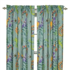 Little Lizard Cotton Rod Pocket Curtain Panel Pair