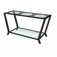Veranda Glass Top Console Table