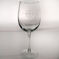 Compass Rose Large Wine Glass (Set of 4)