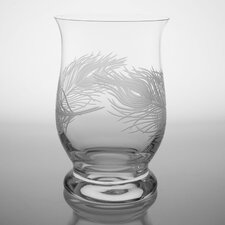 Peacock Hurricane Glass
