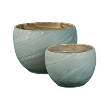 Swirled Clay Pot