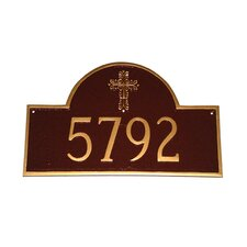 Classic Arch with Cross Address Plaque