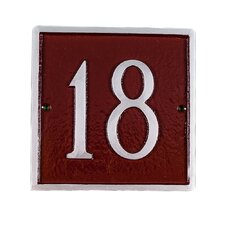 Petite Classic Square Address Plaque