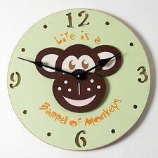 Monkey Head Kid Clock