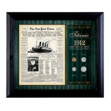 New York Times Titanic 1912 U.S. Mint Coin Wall Frame - 4 Coins