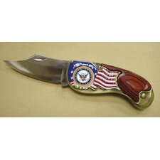 Armed Forces Navy Colorized Quarter Pocket Knife