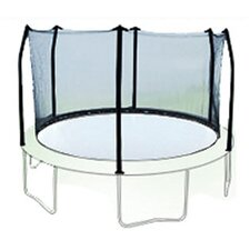 12' Enclosure Trampoline Net Using 6 Straight Curved Poles