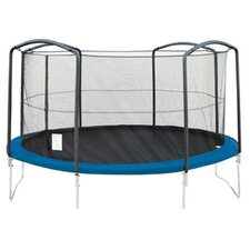 12' Enclosure Trampoline Net Using 4 Arches
