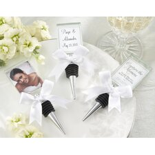 ''Capture the Moment'' Glass Photo Holder Bottle Stopper
