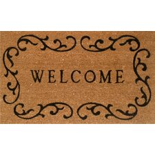 Welcome Curlicue Doormat