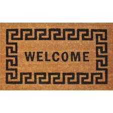 Greek Key Welcome Doormat