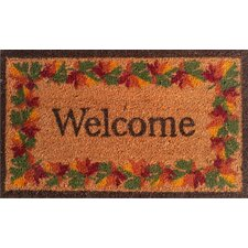 Fall Border Welcome Doormat
