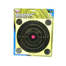 "Shoot-N-C 8"" Bull's Eye Round Target (6 Per Pack)"