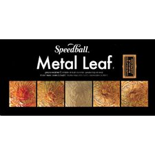 Mona Lisa Variegated Metal Leaf Sheets (Set of 6)