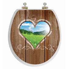 3D Series Love Window Round Toilet Seat