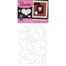 Double-Stick Hearts Stickers