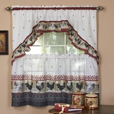 Rooster Valance and Tier Set