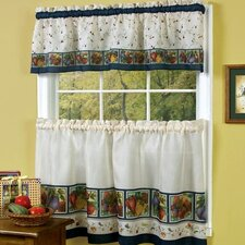 Veggies Rod Pocket Tailored Valance and Tier Set