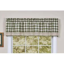 Buffalo Check Cotton Blend Rod Pocket Tailored Curtain Valance