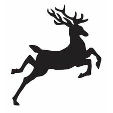Mounted Rubber Jumping Reindeer Stamp