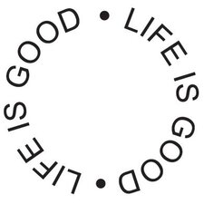 Mounted Rubber Life is Good Circle Stamp