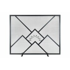 Sunrise Wrought Iron Fireplace Screen