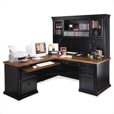Southampton Onyx L-Shape Executive Desk with Optional Hutch
