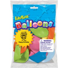 "12"" Happy Birthday Funsational Balloon"