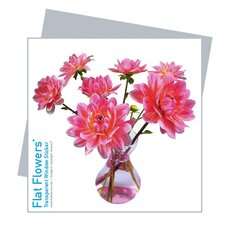 Flat Flowers Greetings in Dahlia