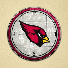 "NFL 12"" Art Glass Clock"