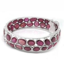 Natural Ruby Bangle Bracelet