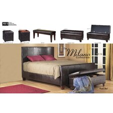 Milano Wood Bedroom Storage Ottoman