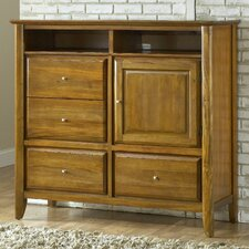 City II 4 Drawer Media Gentleman's Chest