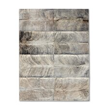 Patchwork Cowhide Oak Exotic Zebu Rug
