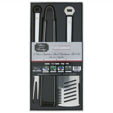 Premium Stainless Steel Barbecue Toolset (Set of 3)