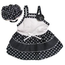 "Adorable and ""Dazzling Polka Dots"" Dog Sundress with Matching Hat"