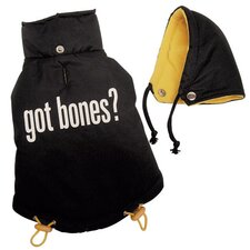 """Got Bones"" Thick and Warm Dog Jacket"