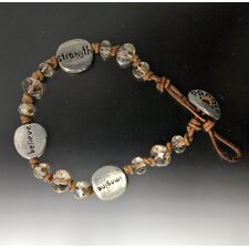 Strength Glass Bead Bracelet