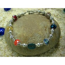 Colors of Friends Glass Bead Bracelet