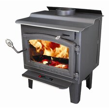 Defender 1,200 Square Foot Wood Stove with Blower and Ash Drawer