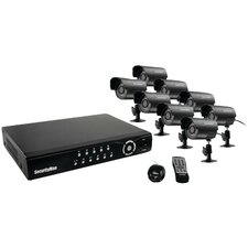Network DVR System with 8 Cameras