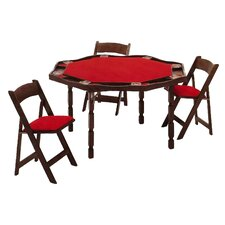 "57"" Oak Period Style Folding Poker Table"